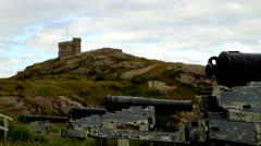 Signal Hill Newfoundland - stock footage