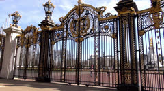Buckingham Palace - stock footage