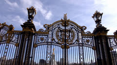 Buckingham Palace Golden Door Stock Footage