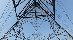 High-voltage tower Stock Footage