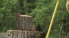 Wood Chop 24 02S CU Stock Footage
