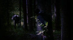 Boy lost in the woods  episode 8 Stock Footage