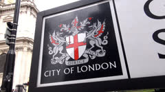 City of London Emblem - stock footage