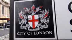 City of London Emblem Stock Footage