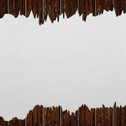 Template of cracked wood board Stock Illustration