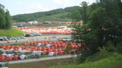 Boy Scouts enjoy 2013 Jamboree in West Virginia Stock Footage