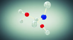 Beautiful Molecule Structure. HD 1080. Stock Footage