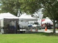 Media at the Courthouse in Sanford, Florida Stock Footage