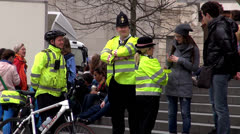London Police officers Stock Footage