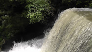 Stock Video Footage of Waterfall side-view