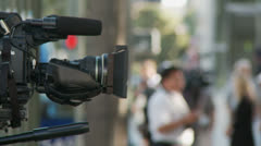 Stock Video Footage of Media News Cameras