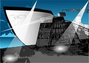Stock Illustration of loading a ship