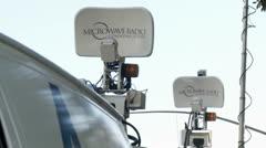 News Satellites Stock Footage