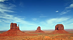beautiful view of Monument valley panorama, time lapse - stock footage