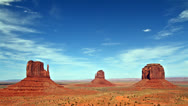 Stock Video Footage of beautiful view of Monument valley panorama, time lapse