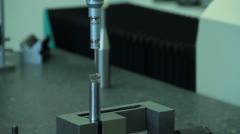 Metalwork measuring 02 - stock footage