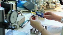 Stock Video Footage of Metalwork measuring 05