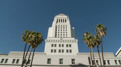 Los Angeles City Hall, Tilt Stock Footage