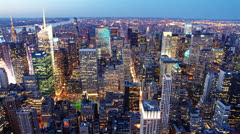 New York skyline at sunset time lapse Stock Footage