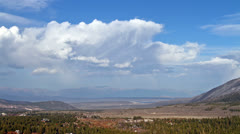 Panorama of the valley, time lapse Stock Footage