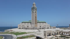 Mosque of Hassan II in Casablanca, Morocco - stock footage