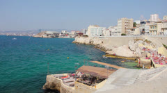 Coast in Marseilles, South of France Stock Footage