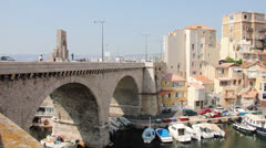 Vallon des Auffes and the war memorial Stock Footage