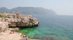 Calanques in Cassis, French Riviera Stock Footage