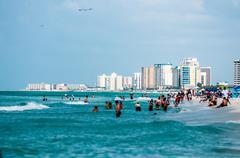 Public beach in florida Stock Photos