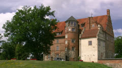 Ulrichshusen Castle - Mecklenburg, Northern Germany Stock Footage