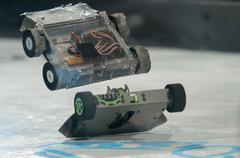 mini robot wars - stock photo