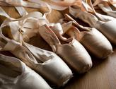 Stock Photo of old ballet shoes or slippers
