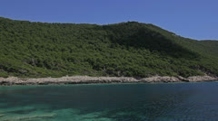 Mljet national natural park, Croatia Stock Footage