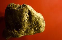 Half pound gold nugget Stock Photos