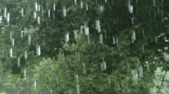 Window Rain 24 60 Stock Footage