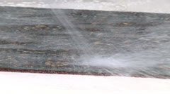 Rinsing rug 1 Stock Footage