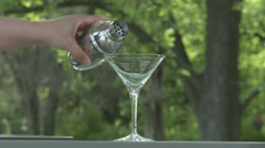 Martini Pour 1 24 60 center Stock Footage