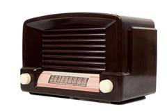 antigue radio - stock photo