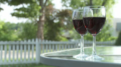 Red Wine Glasses Stock Footage