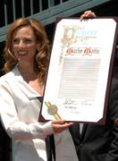 Stock Photo of oscar winning actress marlee matlin honored with 2,383rd star on the hollywoo