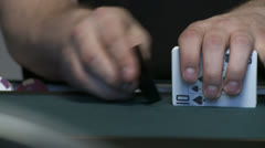 Shuffling Cards 2 low VP Stock Footage