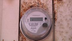Digital Smart Meter Electric Power Company Monitor New Government Spying 2/3 Stock Footage