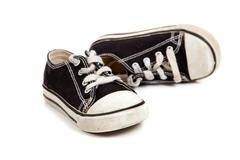 Stock Photo of childs tennis shoes on white