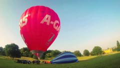Hot Air Balloons Take Flight - Time Lapse HD Stock Footage