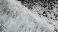 Wave at the bow of a ship Stock Footage