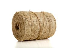 spool or natural twine - stock photo