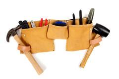 Toolbelt with tools Stock Photos