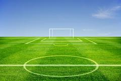 football field - stock illustration
