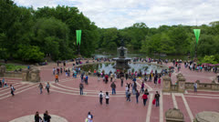 Time lapse of the Bethesda Fountain in Central Park, New York City, May 2013. Stock Footage