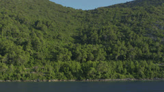 Traveling near the coast with typical Adriatic landscape. - stock footage